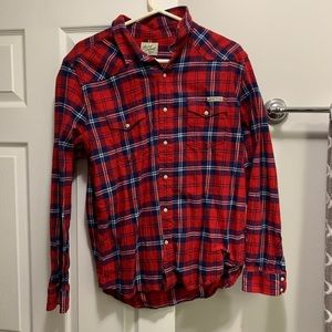 Lucky Brand Red plaid Flannel